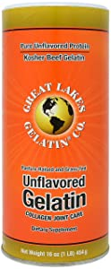 Great Lakes Gelatin, Unflavored Beef Gelatin, Kosher, 16 Ounce Can