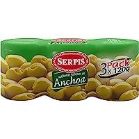 Serpis - Aceituna Rellena Anchoa, 3 x 120