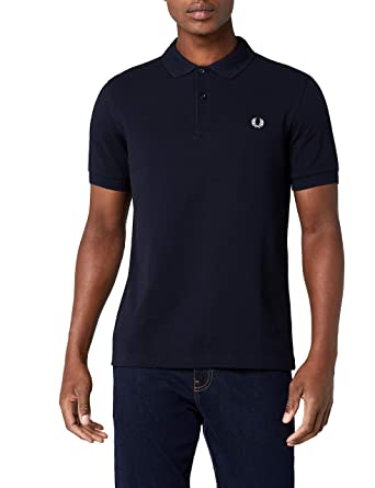 9be141468 Amazon.com: Fred Perry Men's Slim Fit Plain Shirt, Black, X-Small: Clothing