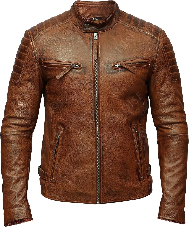 1510203 Lasumisura Mens Black Genuine Lambskin Leather Jacket