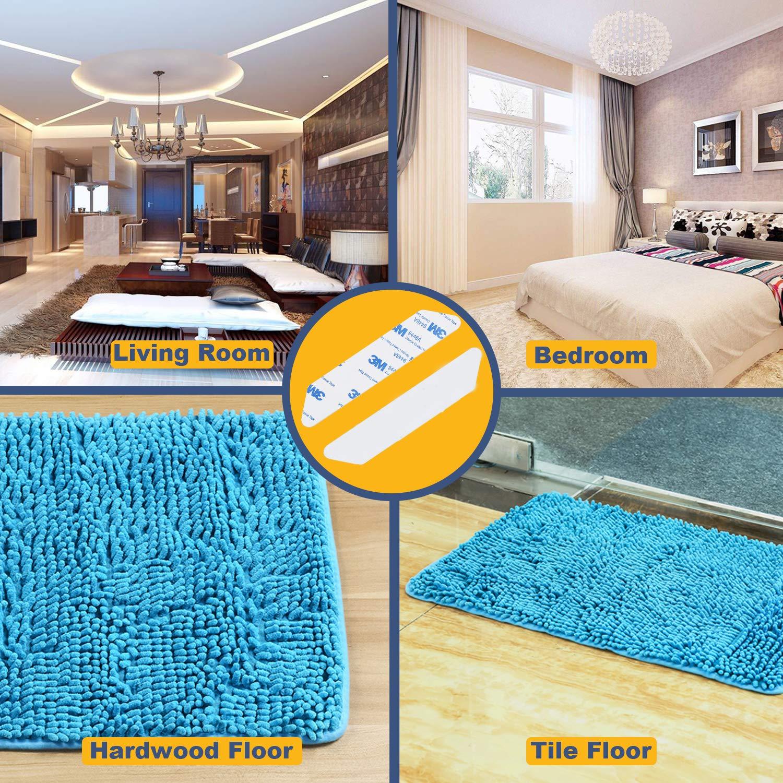 Rug Gripper,Anti Curling Non Slip Rug Gripper 8pcs,Corelink Renewable/&Reusable Gripper Tape for Carpet,Area Rug Stopper Makes Corners Flat,Premium Carpet Gripper for Hardwood Tile Floors