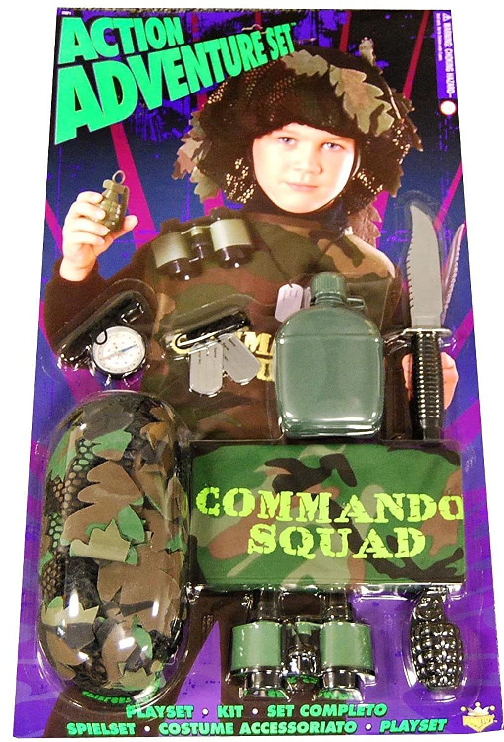 Amazon.com: Action Adventure Commando Blister Child Costume ...