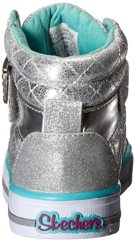 Skechers Girls  Shuffles Sweetheart Sole Hi-Top Trainers  Amazon.co.uk   Shoes   Bags 75af1d3f337