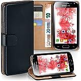 OneFlow PREMIUM - Book-Style Caseétui portefeuille folio avec système chevalet - pour Samsung Galaxy Ace Plus - DEEP-BLACK