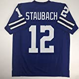 b4ebc5d5 Unsigned Roger Staubach Dallas Blue Custom Stitched Football Jersey Size  Men's XL New No Brands/