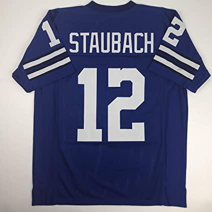 hot sale online 790b3 cf366 Unsigned Roger Staubach Dallas Blue Custom Stitched Football Jersey Size  Men's XL New No Brands/Logos