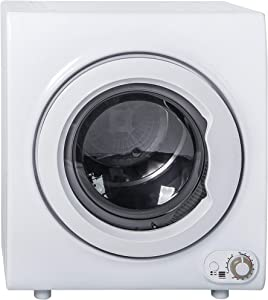A 2.65 Cu.Ft Compact Laundry Dryer, 9 LBS Capacity Compact Tumble Dryer with 1400W Drying Power, Easy Control Clothes Dryer