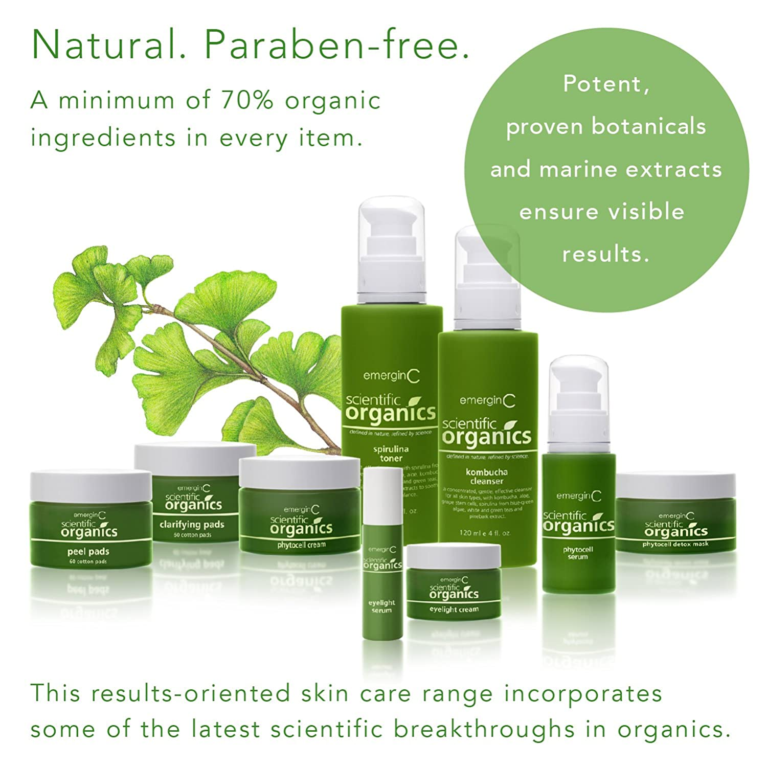 Amazon.com: emerginC Scientific Organics - Natural Skin Care Trial/Travel Set (6 items): Beauty