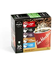Tim Hortons Variety Pack, Original, Dark Roast, Colombian, Bold Roast and French Vanilla, Single Serve Keurig K-Cup Pods, 30 Count