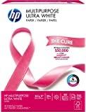 HP Printer Paper, Multipurpose Ultra White, 20lb, 8.5 x 11, Letter, 96 Bright - 500 Sheets / 1 Ream (112000R) Made In The USA