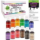 U.S. Art Supply 12 Color Liqua-Gel Food Coloring Dye Kit - 0.75 fl. oz. (20ml) Bottles- Non-Toxic, Food Grade