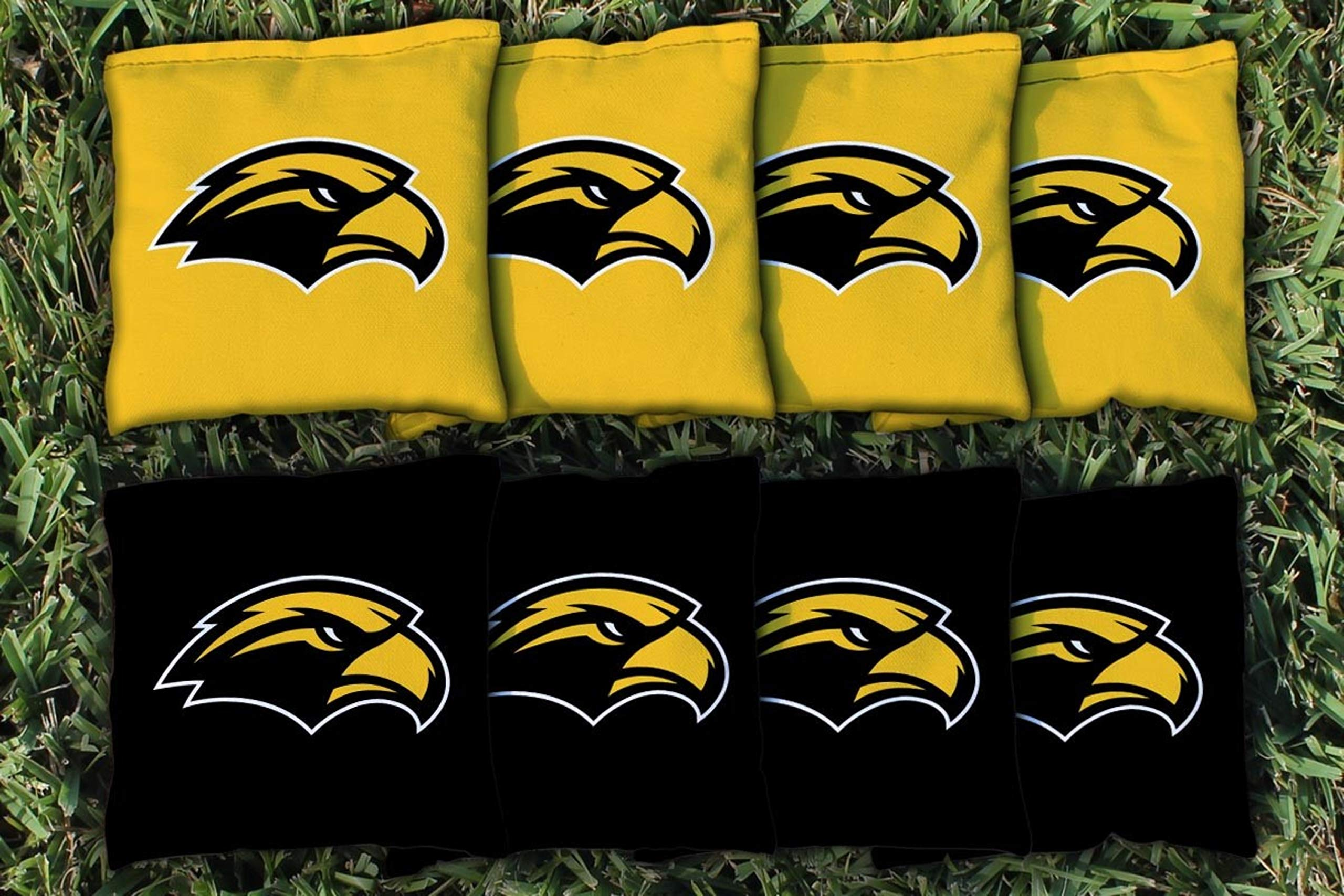 Victory Tailgate NCAA Collegiate Regulation Cornhole Game Bag Set (8 Bags Included, Corn-Filled) - Southern Mississippi Golden Eagles by Victory Tailgate