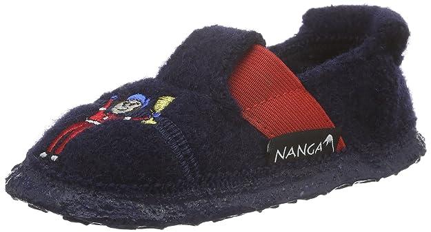 Nanga Jungen Racer Flache Hausschuhe, Blau (Dunkelblau/32), 30 EU