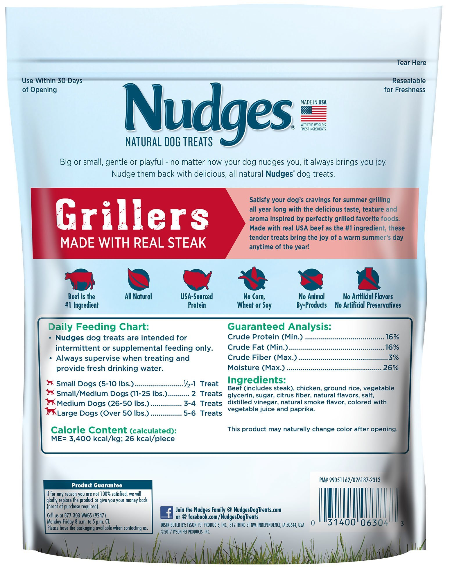 Nudges Grillers Dog Treats, Steak, 10 Ounce by Nudges (Image #4)