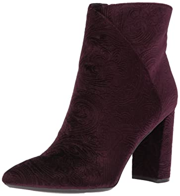 Nine West Women s Argyle Ankle Boot Purple Fabric 5.5 Medium US 24748215bc