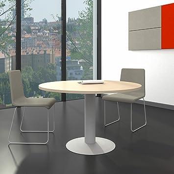 Lieblich OPTIMA Runder Besprechungstisch Esstisch Küchentisch Tisch Ahorn Rund Ø 120  Cm