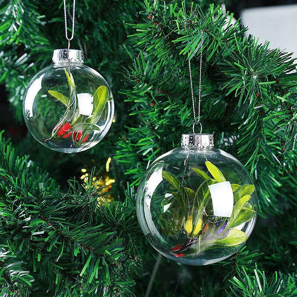 LPxdywlk Bolas de plástico súper Transparentes DIY Árboles de Navidad Colgando Adorno de decoración Adorno Transparente Regalos de Feliz año Nuevo 15cm