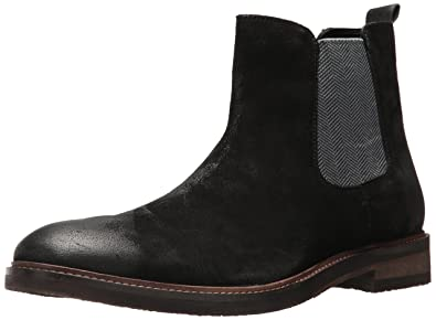 Steve Madden Men's Teller Chelsea Boot, Black Suede, 10 US/US Size  Conversion