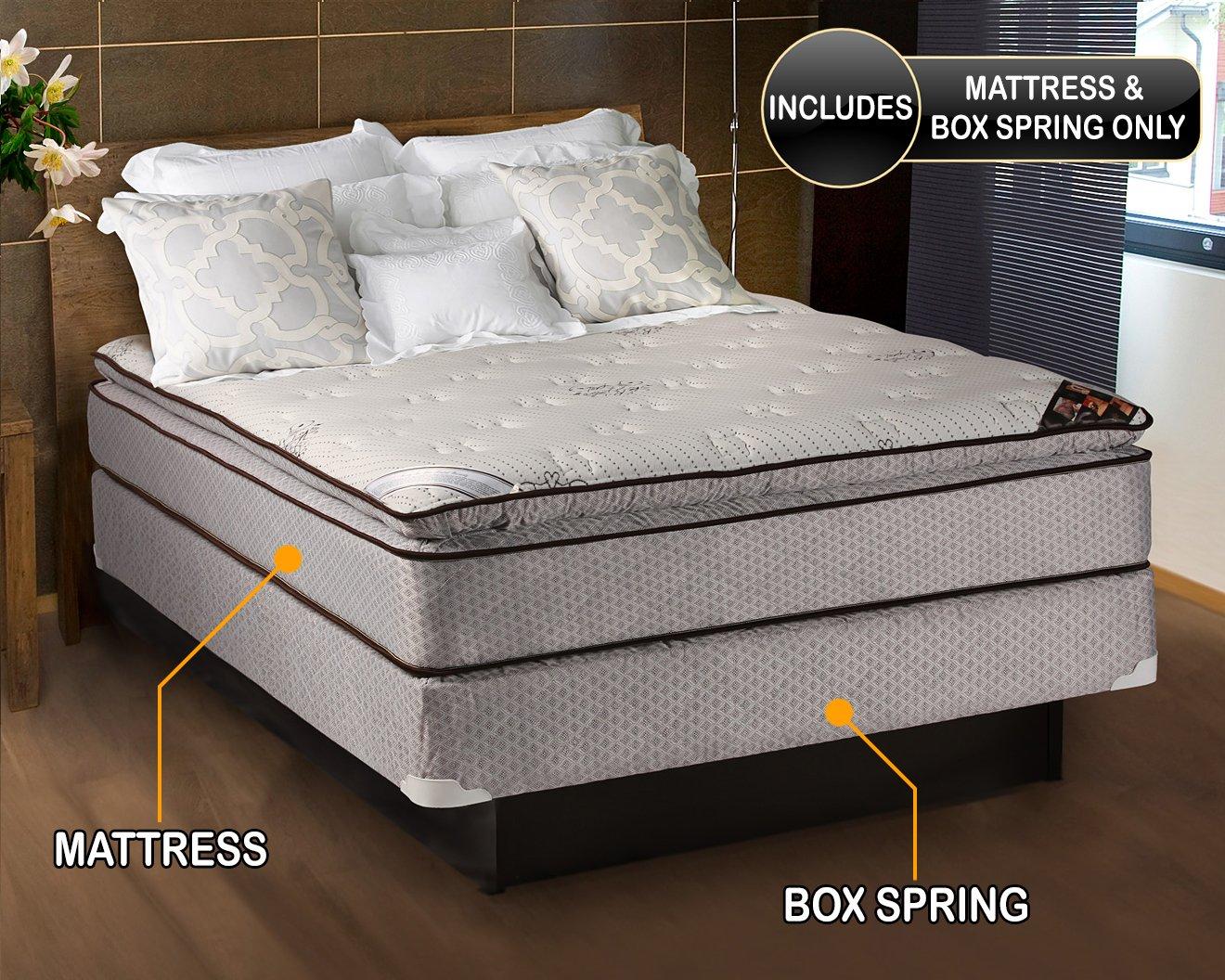 amazon com spinal comfort pillowtop full size mattress box spring