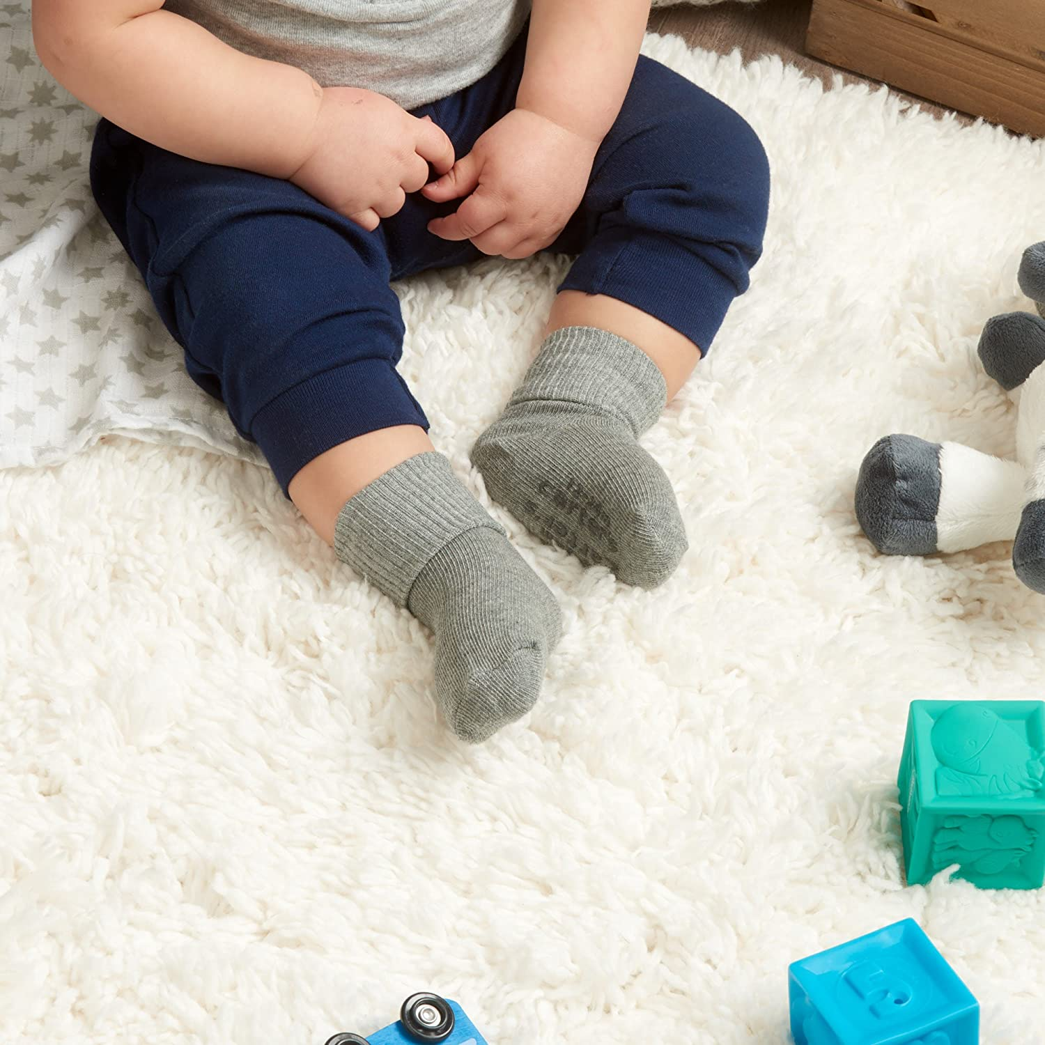 Carters Boys Baby Socks with Non-Skid Grippers