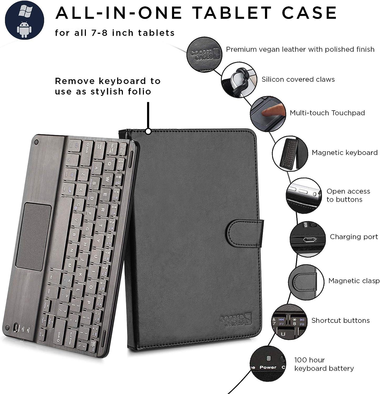 Amazon.com: Funda con teclado para tableta de 7a 8 ...