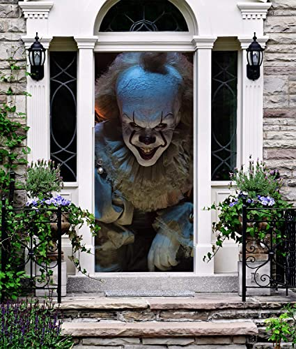 Amazon Com It Banner Front Door Cover Halloween Decor For Entry