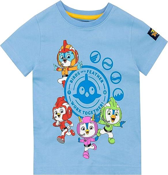 Top Wing Camiseta de Manga Corta para niños Azul 2-3 Años: Amazon ...