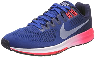 newest a89b0 7d14b Nike AIR Zoom Structure 21, Chaussures de Running Homme,  Geai Obsidienne Rouge