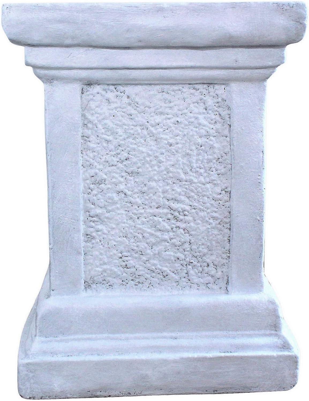 Massiver großer Stein Sockel Podest Säule Statue Motiv Blume Steinguss frostfest