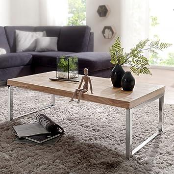 FineBuy Massiver Couchtisch Java 120 X 60 X 40 Cm Akazie Massiv Holz Tisch  | Design