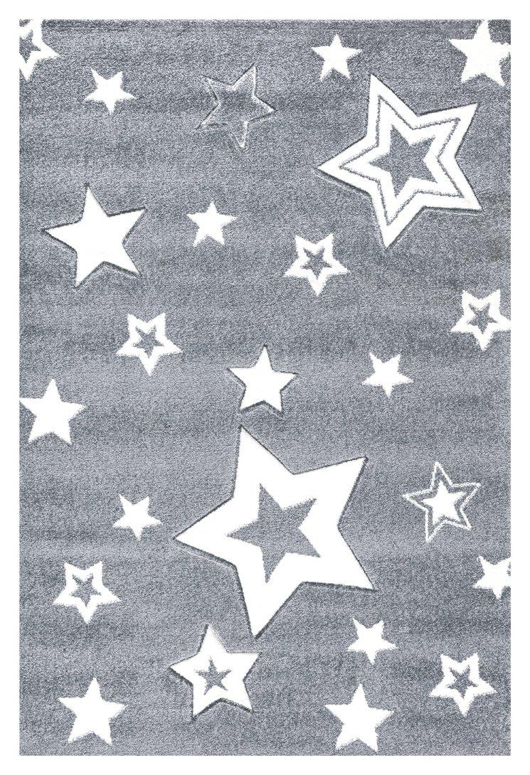 Kinderteppich Love Rugs Starlight grau Weiss 160 x 230 cm