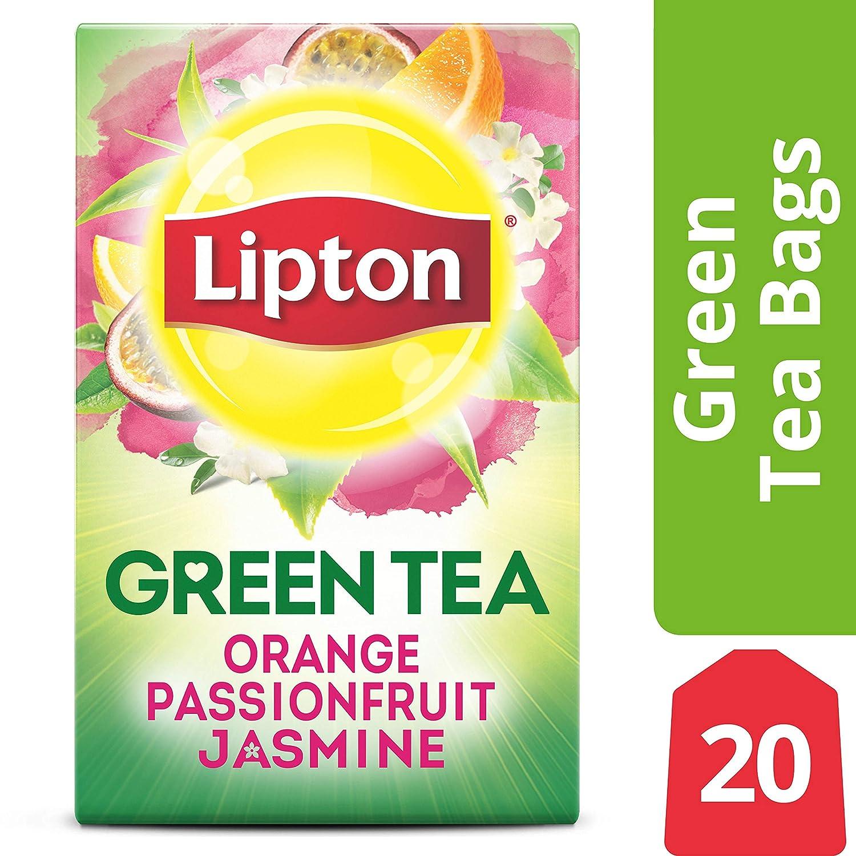 Lipton Green Tea Bags, Orange Passionfruit Jasmine, 20 ct (Pack of 6)