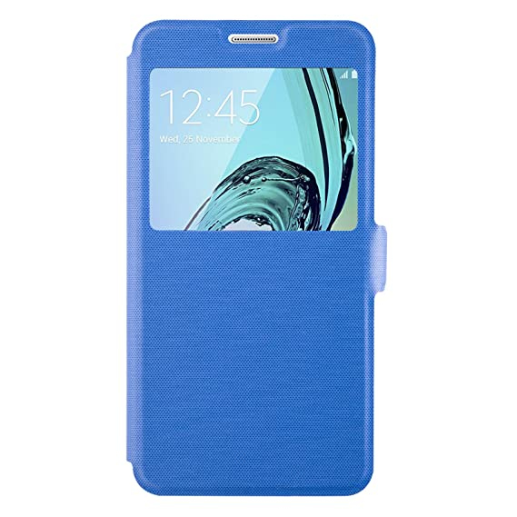 quantité limitée divers design bas prix Amazon.com: Galaxy A5 (2016) Case - Blue Window Flip Cover ...