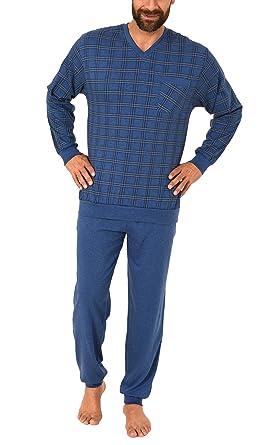 e0e1448d4f Eleganter Herren Pyjama Schlafanzug mit Bündchen - auch in Übergrössen -  271 101 90 453,