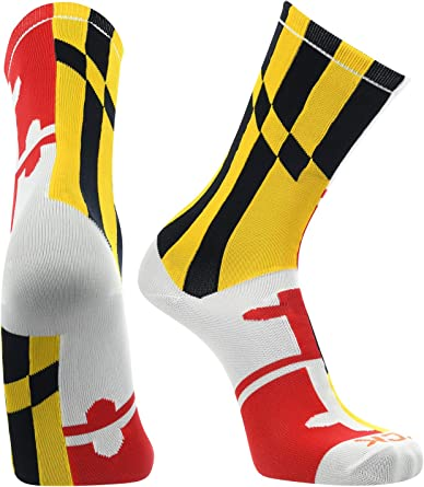 TCK Bandera de Maryland tripulación calcetines, blanco, medio: Amazon.es: Juguetes y juegos