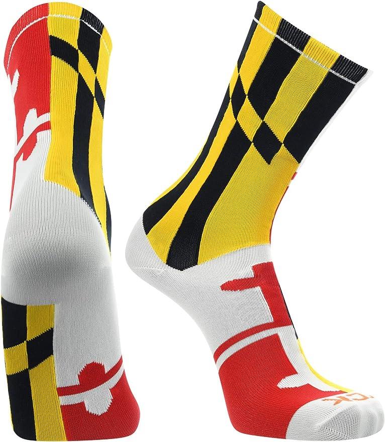 TCK Bandera de Maryland tripulación calcetines, blanco, medio ...