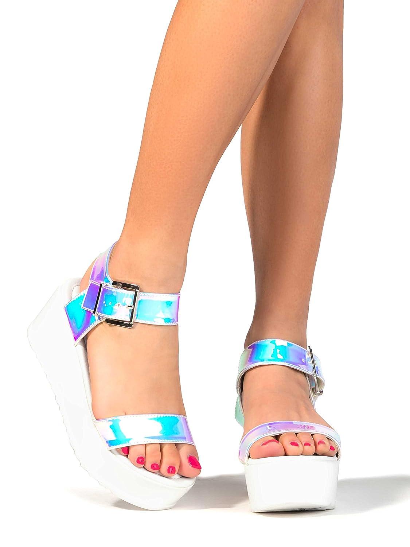 J. Adams Surf Women's Platform Open Toe Buckle Sandal