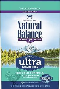 Natural Balance Original Ultra Grain Free Large Breed Bites Dog Food, Chicken Formula, 11 Pounds