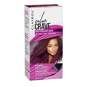 Clairol Color Crave Semi-permanent Hair Color, Flamingo, 1 Count