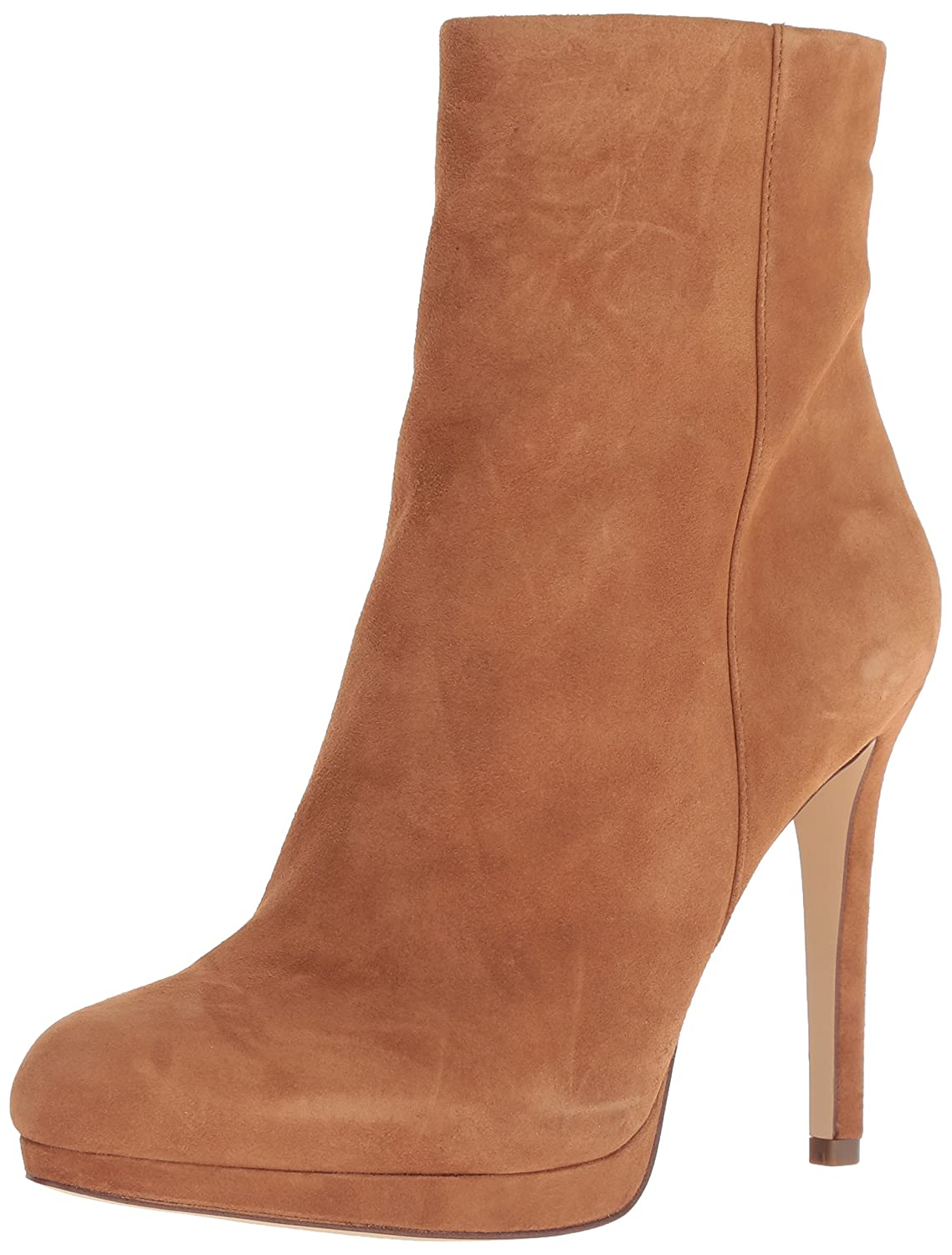 Nine West Women's Quanette Suede Ankle Boot B0781ZBLDK 12 B(M) US|Dark Natural_260