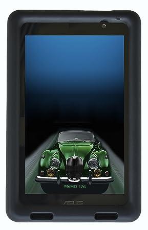 BobjGear - Carcasa resistente para tablet ASUS MeMO Pad 7 modelos ME176C, ME176CX, ME176CE, K013, K013C- funda protectora (Negro)
