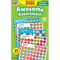 Trend T46826 Trend Superspots and Supershapes Sticker Variety Pack, Awesome Assortment