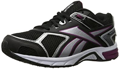 9638fca11720 Reebok Women s Quickchase Running Shoe Black Silver White Rebel Berry 5 ...