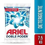 Ariel Detergente En Polvo Ariel Doble Poder 7.5kg, 10 Unidades De 750g, color, 1 count, pack of/paquete de