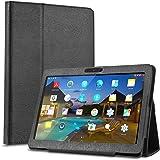 BEISTA Cover Custodia Protettiva Case  in Pelle PU Adatto per LNMBBS Tablet 10 Pollici,YOTOPT Tablet 10.1 Pollici 10 Pollici Tablet-Nero