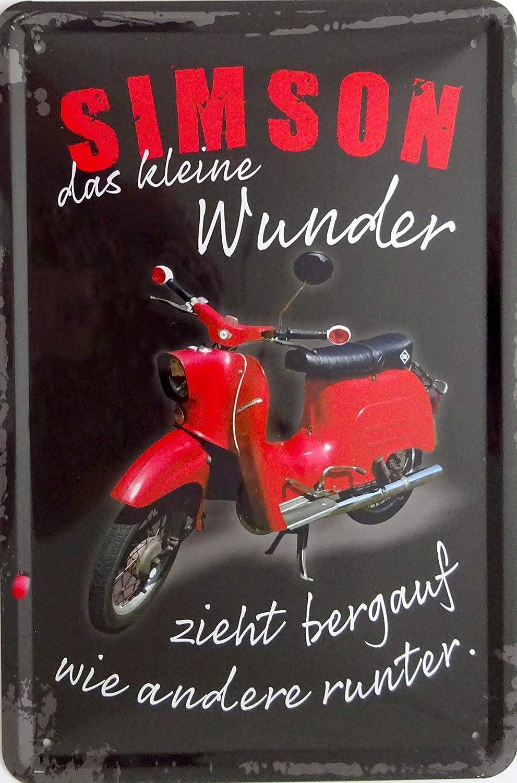 vielesguenstig-2013 Blechschild Schild 20x30cm Simson das kleine Wunder Moped Schwalbe DDR