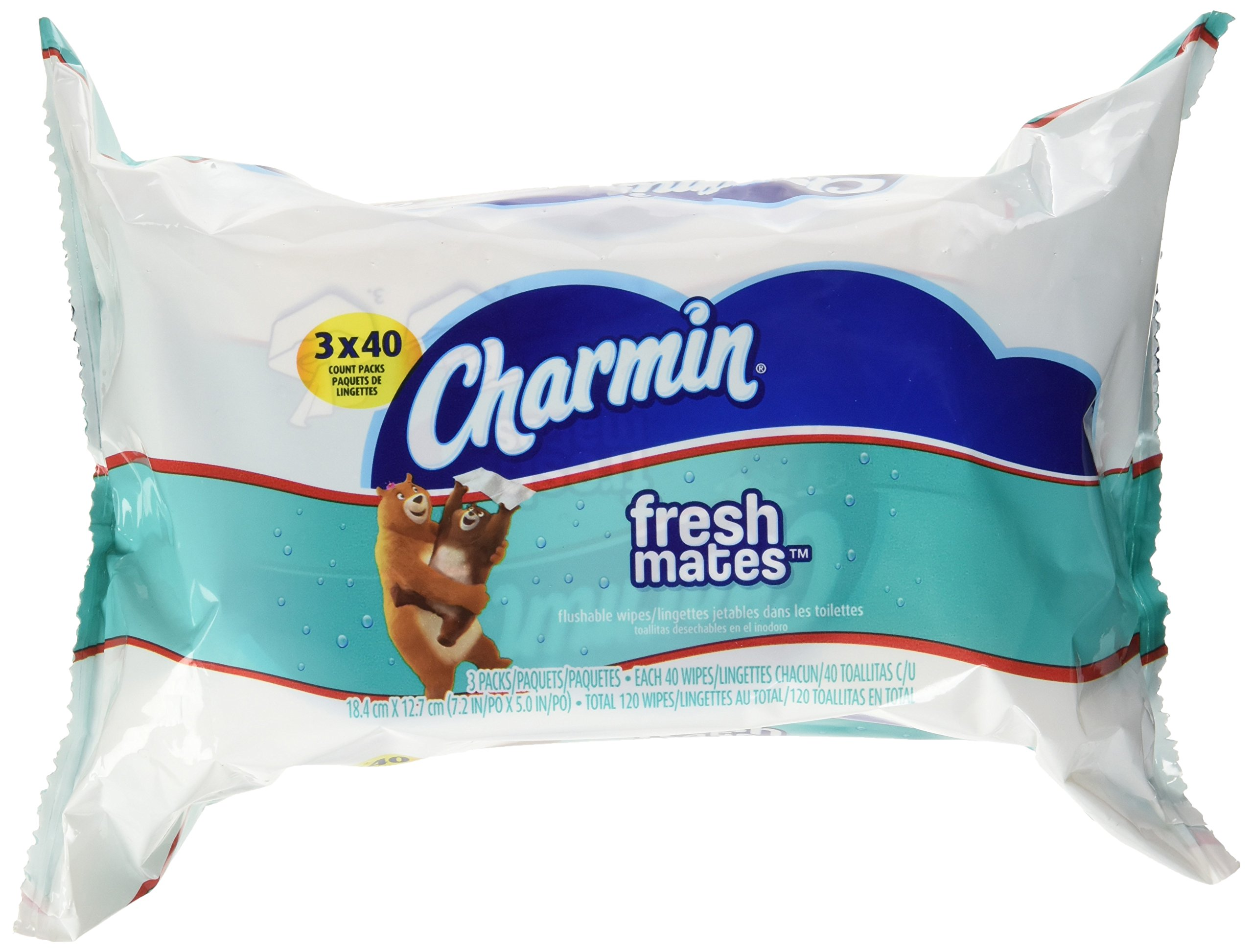 Charmin Freshmates 120 Count Refill Pack (3 sets of 40 Count Fresh Wipes) Pack of 8 by Charmin