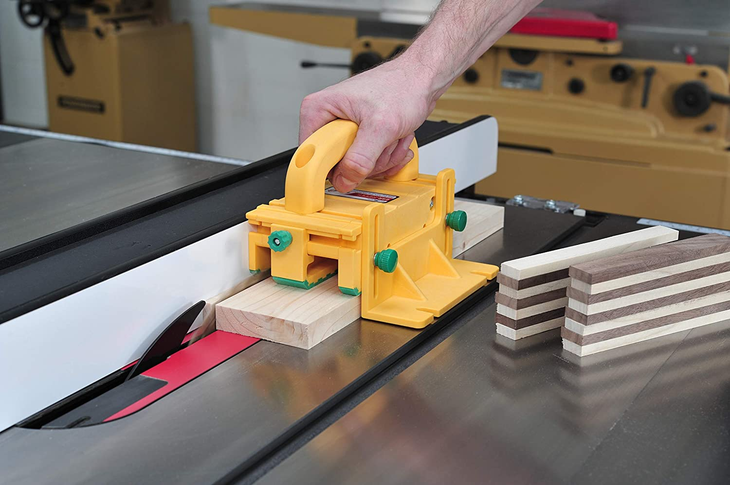 and Jointers by MICROJIG Router Tables GRR-RIPPER 3D Pushblock for Table Saws Band Saws