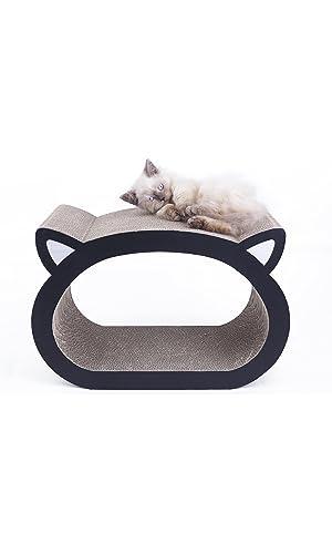 MushroomCat Cat Face Ultimate Scratcher Lounge Bed