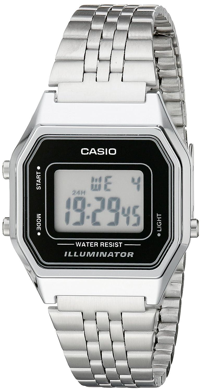 Casio Ladies Mid-Size Silver Tone Digital Retro Watch LA-680WA-1DF
